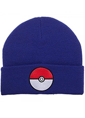 Gorro Pokemon Pokeball Blue Beanie