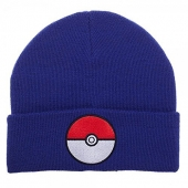 Gorro, Pokemon, Pokeball, Blue, Beanie,