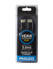 Cable HDMI 4K Flat 3mts Negro Philco