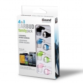 Audifonos Earbuds 4 en 1 Family Pack DGHP-5704 iSound