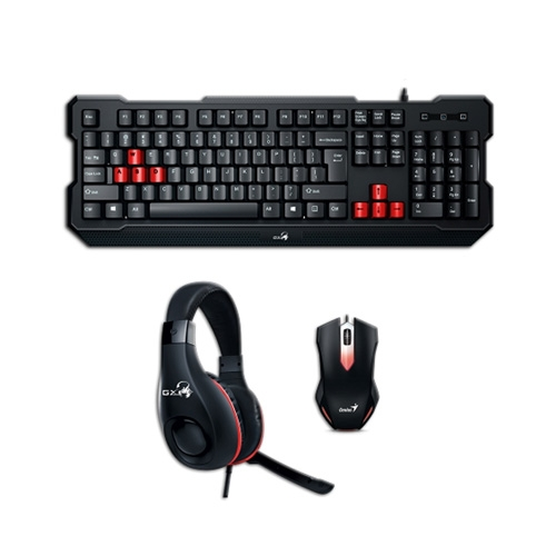 Kit Super Value Gamer Teclado Mouse Audífonos KMH-200 Genius