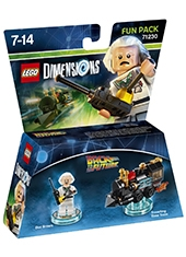 Figura LEGO Dimensions Back To The Future Doc Brown Fun Pack