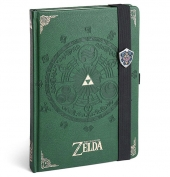 Libreta Premium A5 The Legend Of Zelda TriForce