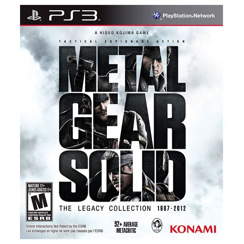 Metal Gear Solid The Legacy Collection 1987 - 2012 PS3