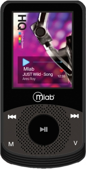 MP4, 8Gb, Rubber, negro, black, 7242, Microlab, mlab, mp3