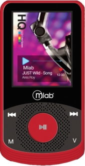 MP4, 8Gb, Rubber, rojo, red, 7243, Microlab, mlab, mp3