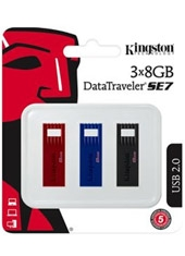 Pack 3 Pendrive 8Gb Kingston