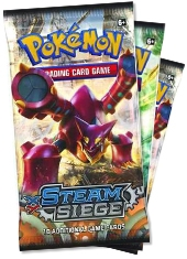 Pack 3 Sobres Cartas Pokemon XY11 Steam Siege