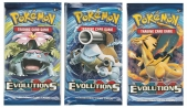 Pack, 3, Sobres, Cartas, Pokemon, XY, Evolutions, TCG, Trading Card Game,