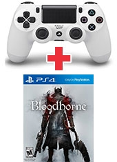 Pack Control PS4 Dualshock 4 Glacier White + Bloodborne PS4
