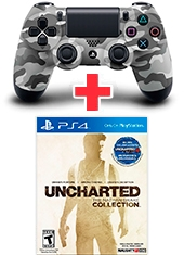 Pack Control PS4 Dualshock 4 Urban Camouflage + Uncharted The Nathan Drake Collection PS4