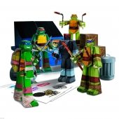 Papercraft Teenage Mutant Ninja Turtles TMNT Team Ninjas