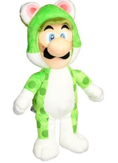 Peluche Super Mario 14'' Cat Luigi
