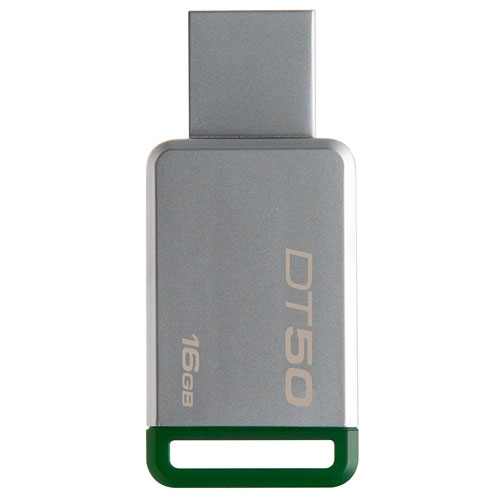 Pendrive Data Traveler 16GB DT50 Metal Green Kingston