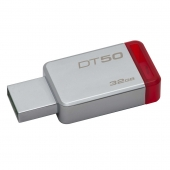 Pendrive, Data, Traveler, 32GB, DT50, Metal, Red, rojo, Kingston,
