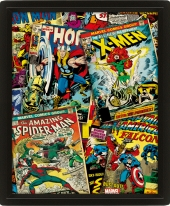 Poster, 3D, marvel comics, Captain America, marvel, capitán américa, iron man, ironman, hulk, thor, spiderman,