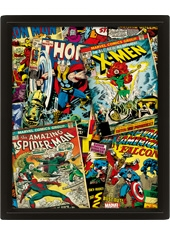 Poster 3D Marvel Comics