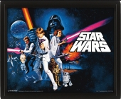 Poster, 3D, Star Wars, starwars, SW, Episode IV, episodio 4, a new hope, una nueva esperanza