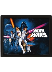 Poster 3D Star Wars Episode IV