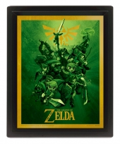 Poster, 3D, Zelda, the legend of zelda, TLOZ, the Wind Waker, link
