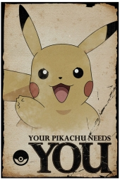 Poster, afiche, Pokemon, pokémon, Pikachu, Needs You