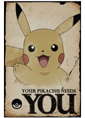 Poster Pokemon Pikachu Needs You