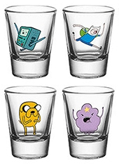 Set Vasos Chupito Adventure Time