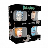 Set Vasos, Chupito, corto, shot, Rick and morty, rick & morty