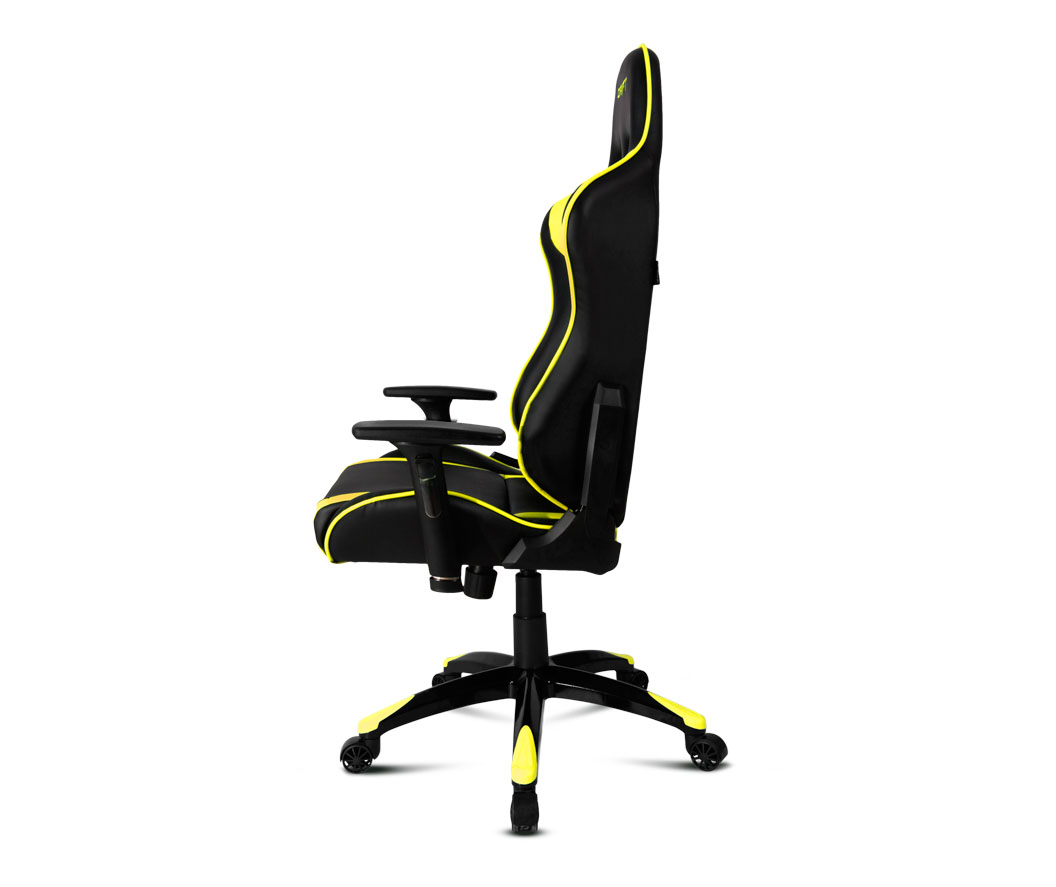 Silla gaming dr300 negro amarillo drift microplay for Silla razer gamer