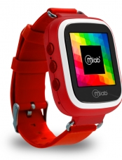 Smartwatch, reloj, Kids, GPS, Tracker, Rojo, red, 7928, Microlab