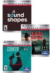 Sound Shapes + Dead Nation + CounterSpy PS3 Digital