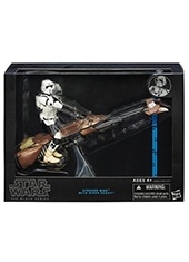 "Figura Star Wars The Black Series 6"" Speeder Bike with Biker Scout"