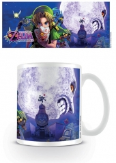 Tazón, mug, The Legend of Zelda, TLOZ, Majoras Mask, majora's mask, Moon, link, zelda